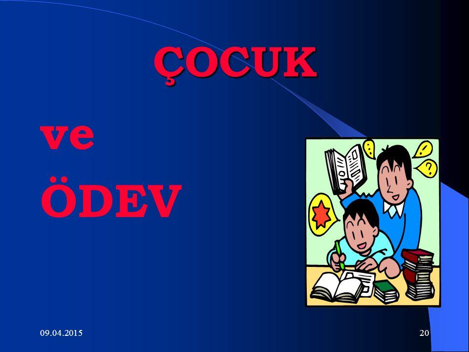 ÇOCUK ve ÖDEV 10.04.2017