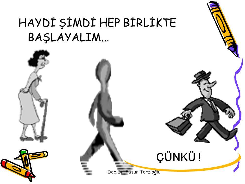 HAYDİ ŞİMDİ HEP BİRLİKTE BAŞLAYALIM...