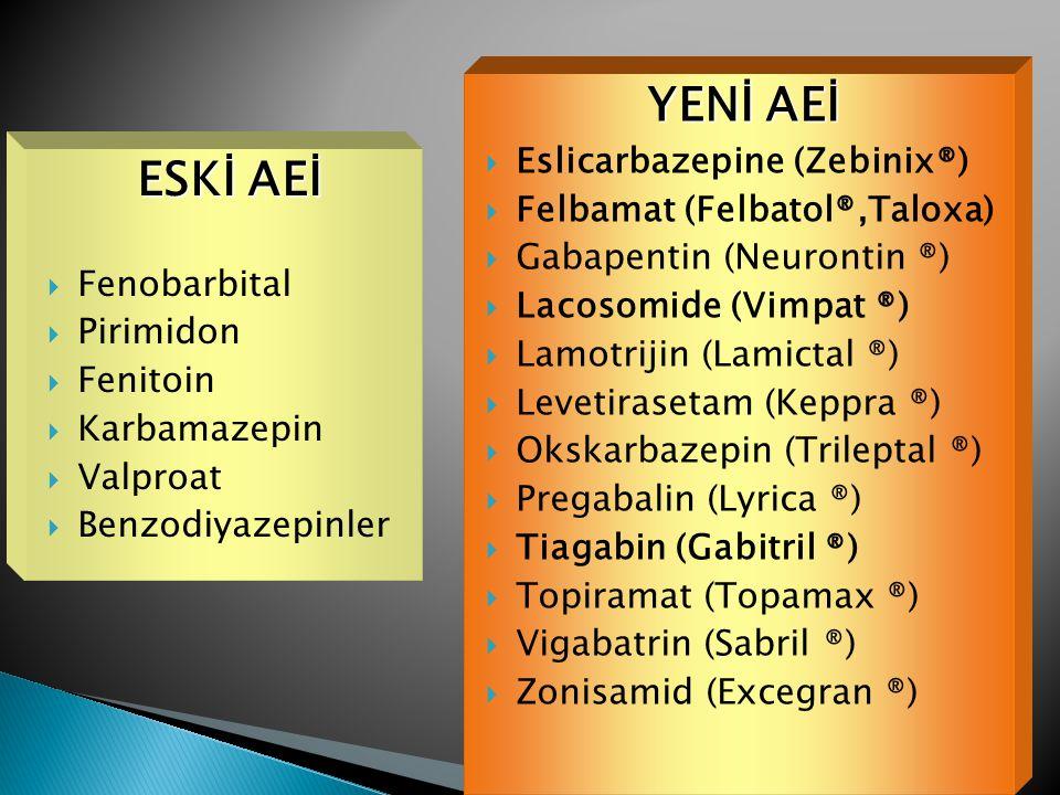 YENİ AEİ ESKİ AEİ Eslicarbazepine (Zebinix®)