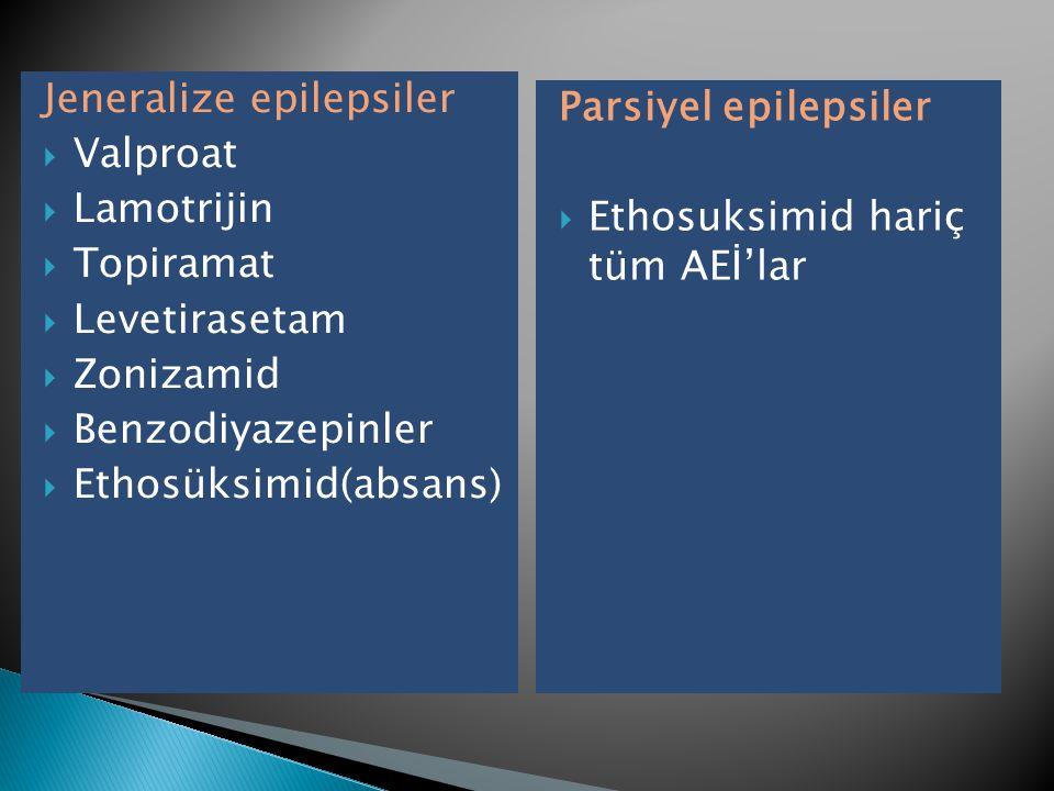 Jeneralize epilepsiler