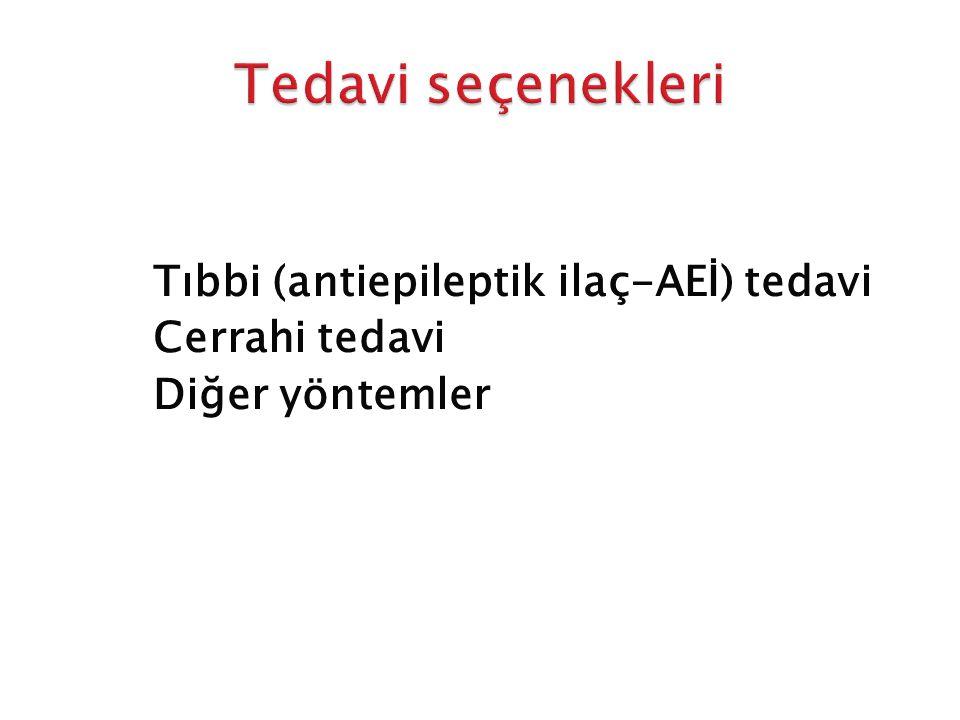 Tedavi seçenekleri Tıbbi (antiepileptik ilaç-AEİ) tedavi