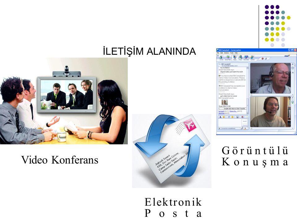 İLETİŞİM ALANINDA Görüntülü Konuşma Video Konferans Elektronik Posta