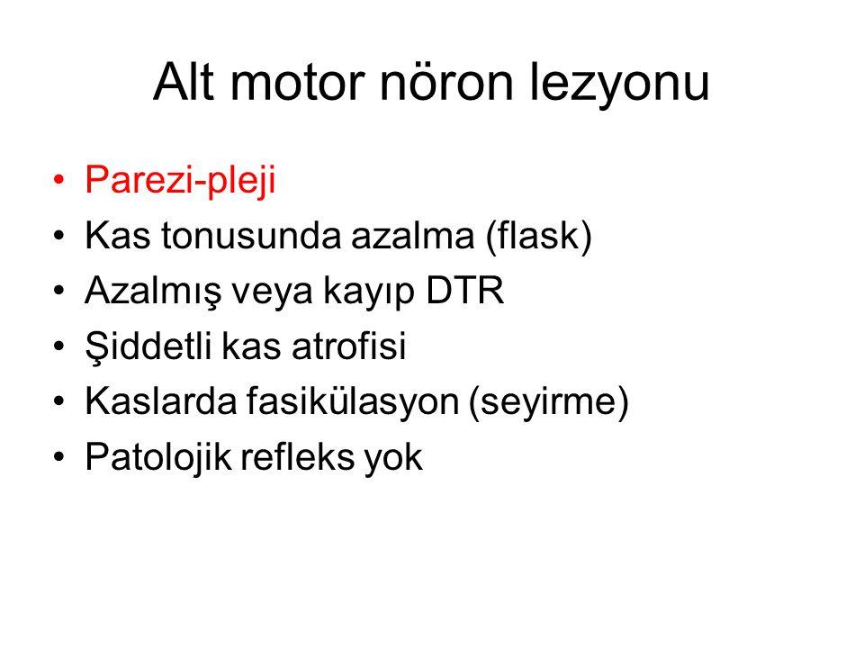 Alt motor nöron lezyonu