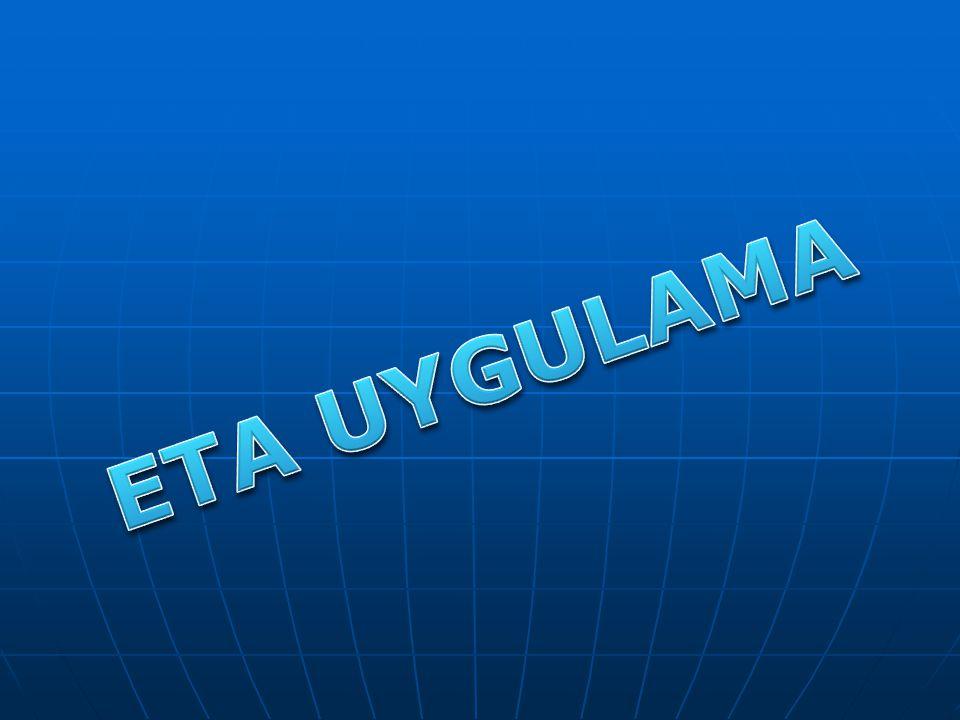 ETA UYGULAMA