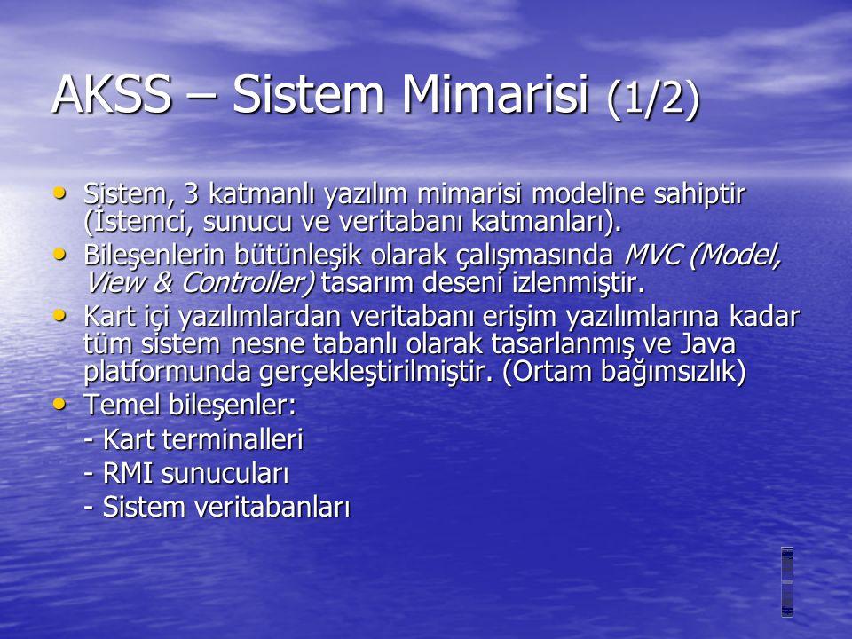 AKSS – Sistem Mimarisi (1/2)