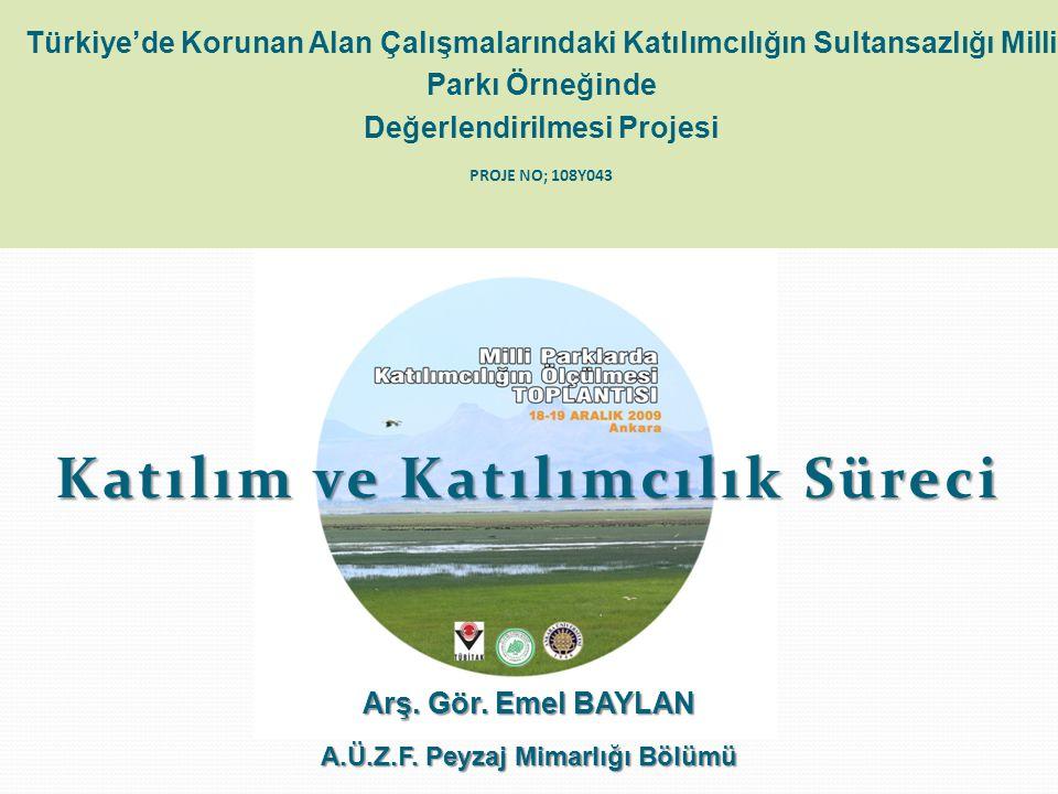 Katılım ve Katılımcılık Süreci A.Ü.Z.F. Peyzaj Mimarlığı Bölümü