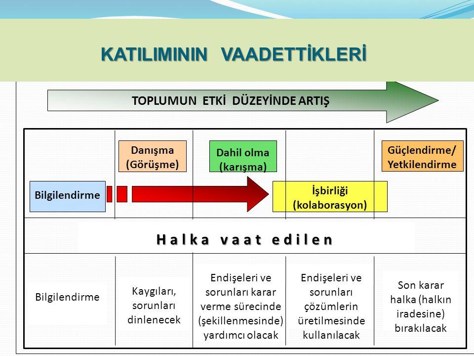 KATILIMININ VAADETTİKLERİ