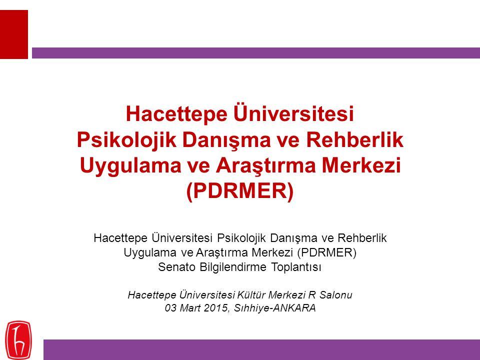 Hacettepe Üniversitesi Psikolojik Danışma ve Rehberlik Uygulama ve Araştırma Merkezi (PDRMER)