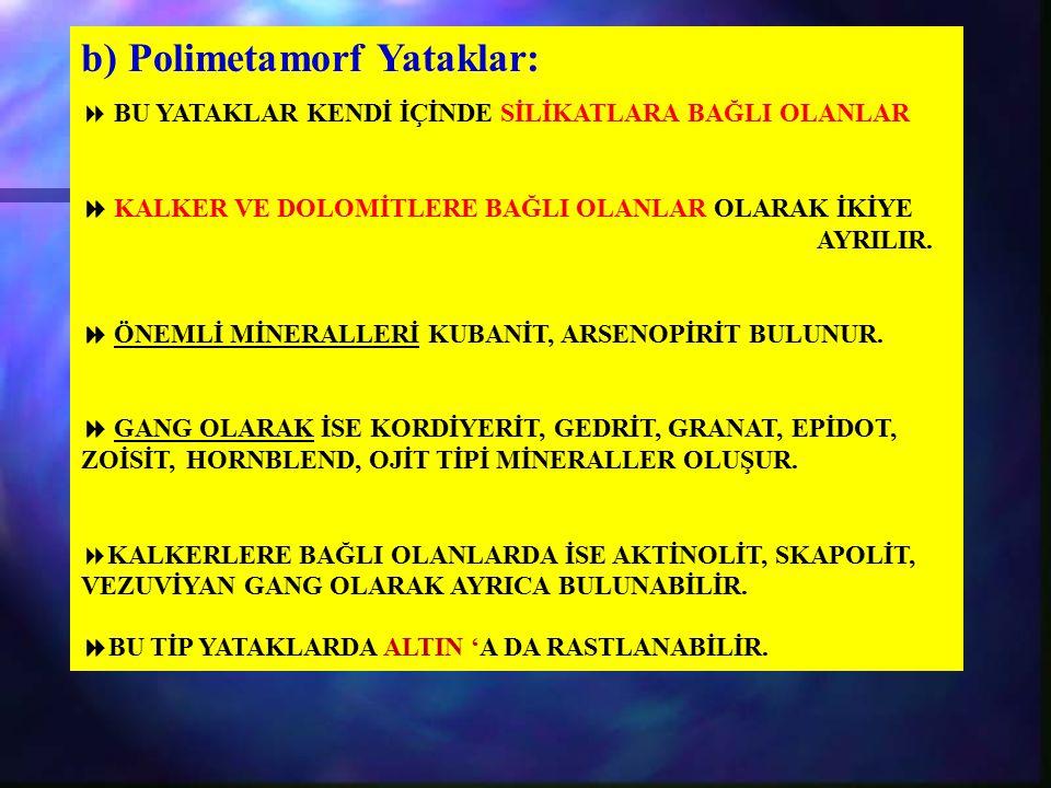 b) Polimetamorf Yataklar: