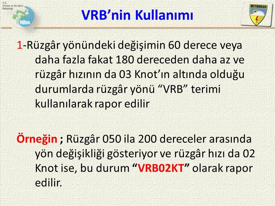 VRB'nin Kullanımı