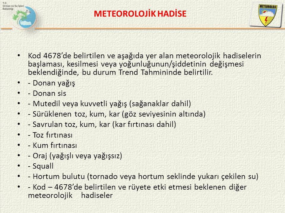 METEOROLOJİK HADİSE