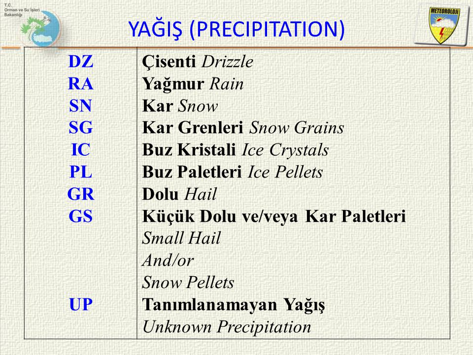 YAĞIŞ (PRECIPITATION)