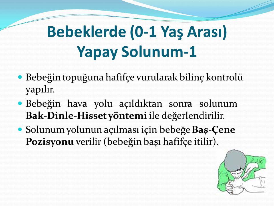 Bebeklerde (0-1 Yaş Arası) Yapay Solunum-1