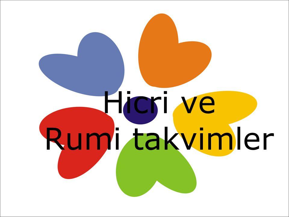 Hicri ve Rumi takvimler