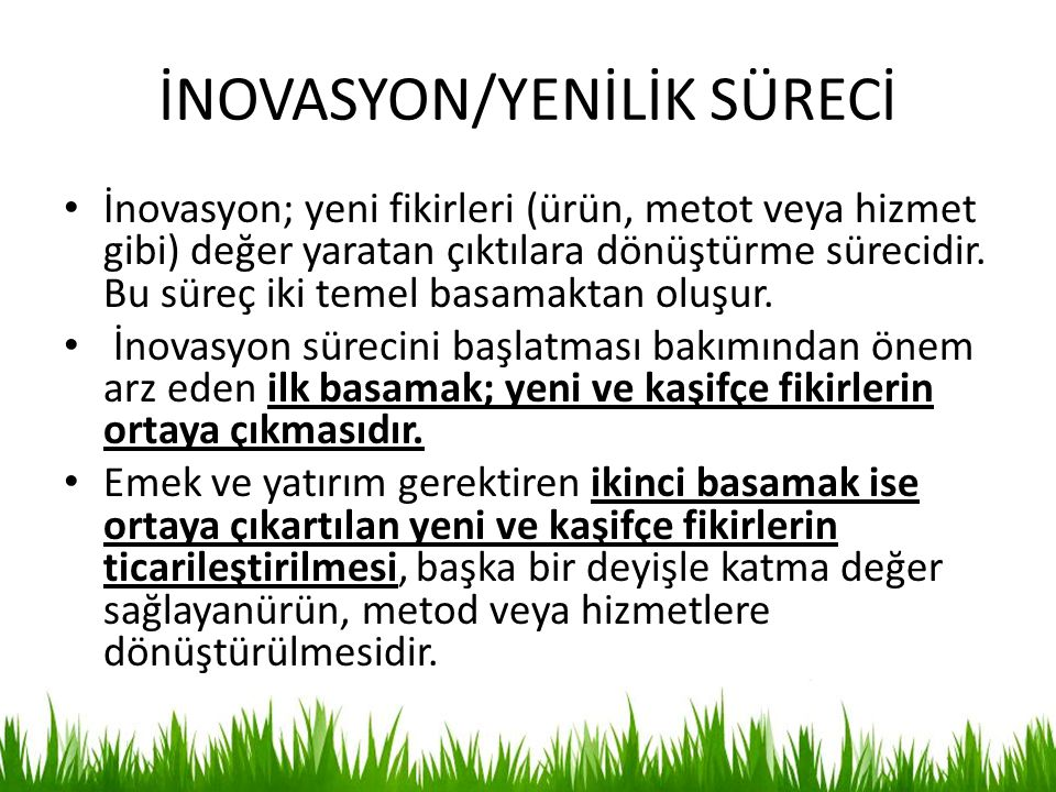 İNOVASYON/YENİLİK SÜRECİ