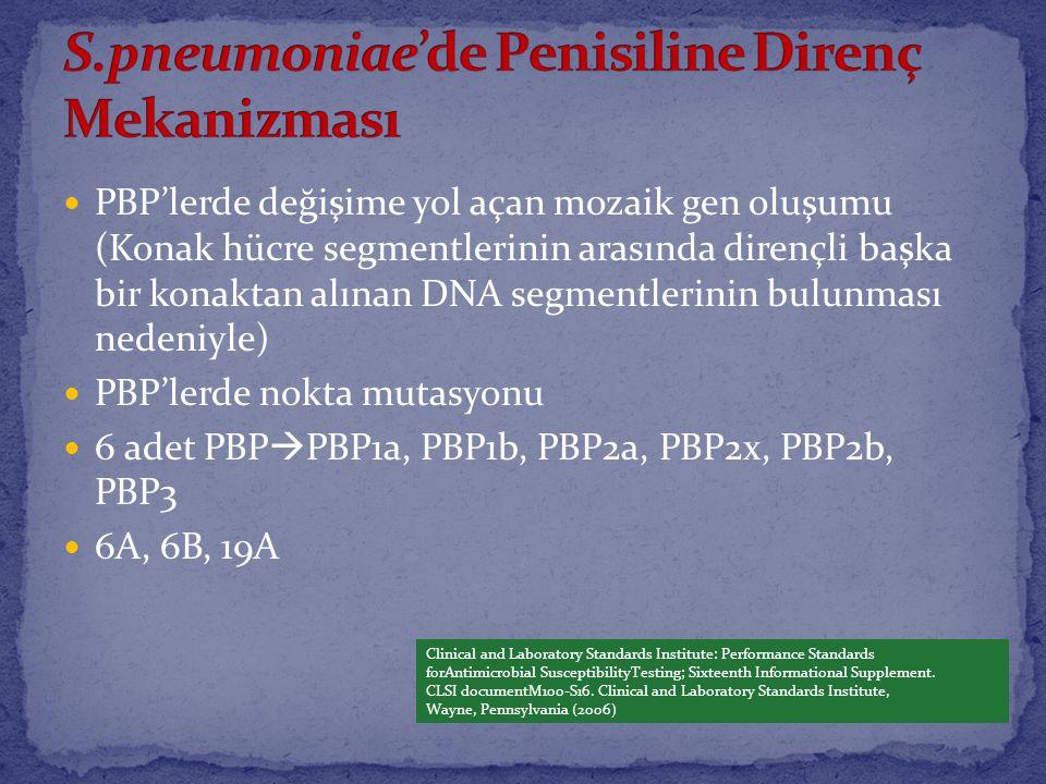 S.pneumoniae'de Penisiline Direnç Mekanizması