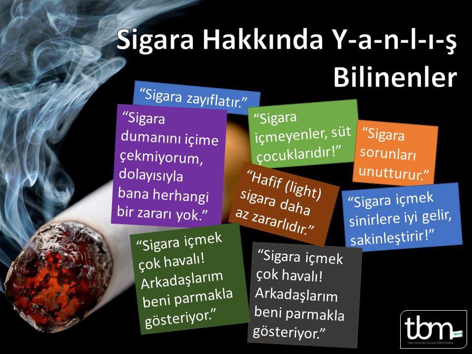 Sigara Hakkında Y-a-n-l-ı-ş Bilinenler