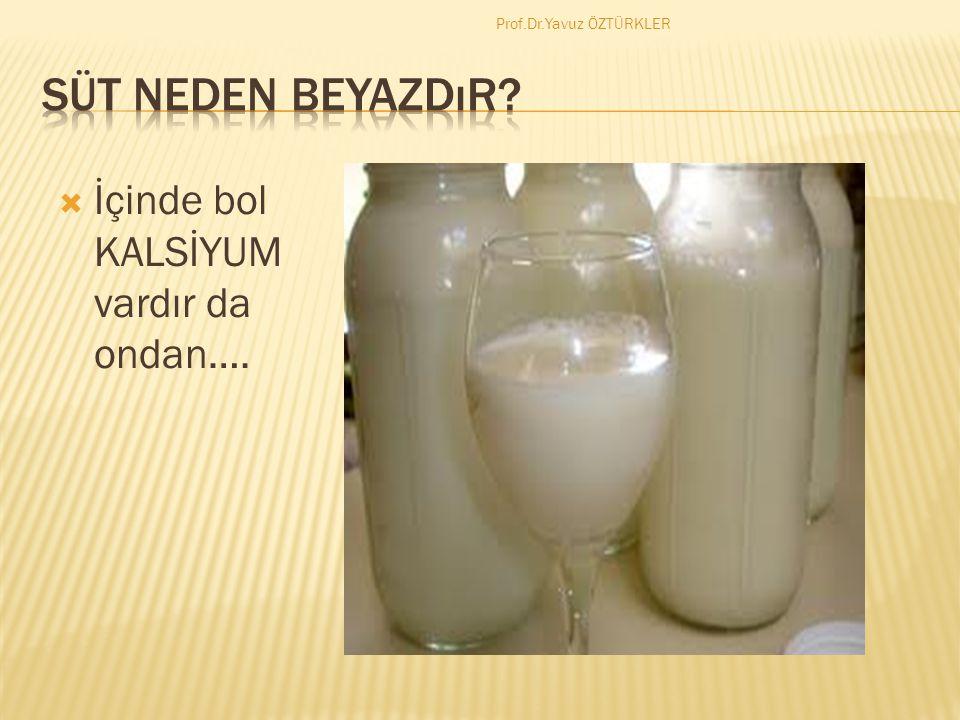 Süt neden beyazdır İçinde bol KALSİYUM vardır da ondan….