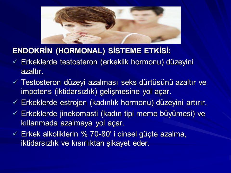 ENDOKRİN (HORMONAL) SİSTEME ETKİSİ: