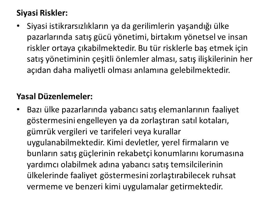 Siyasi Riskler: