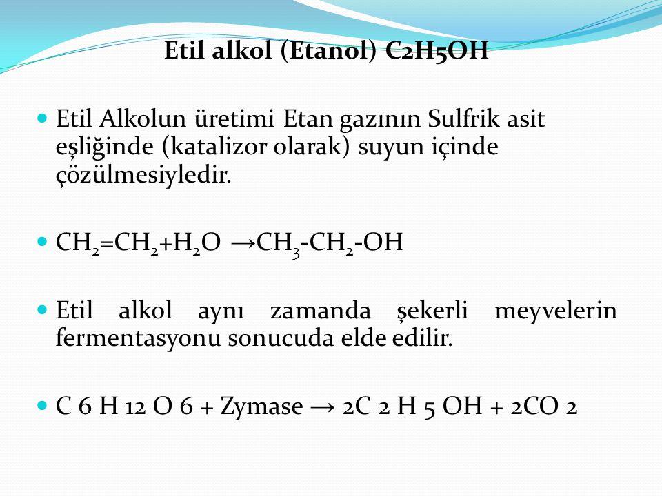 Etil alkol (Etanol) C2H5OH