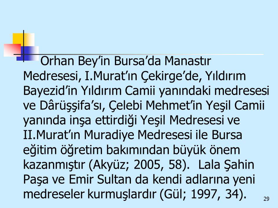 Orhan Bey'in Bursa'da Manastır Medresesi, I
