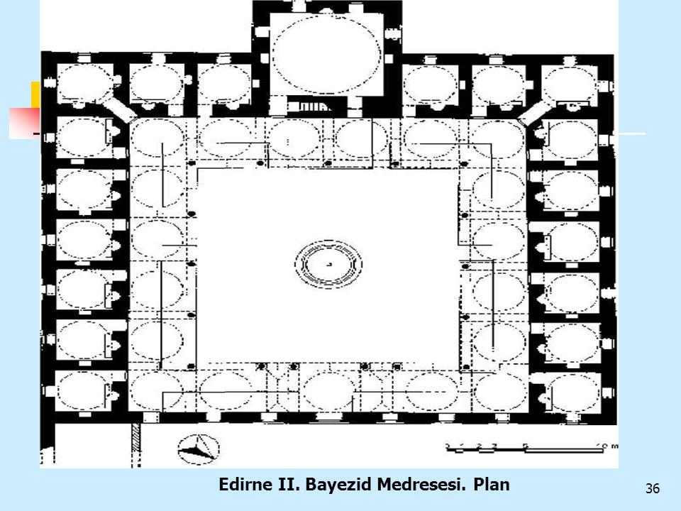 Edirne II. Bayezid Medresesi. Plan