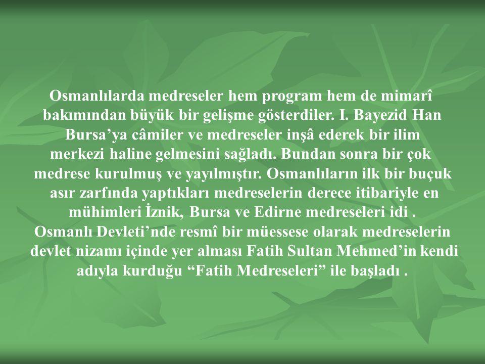 devlet nizamı içinde yer alması Fatih Sultan Mehmed'in kendi