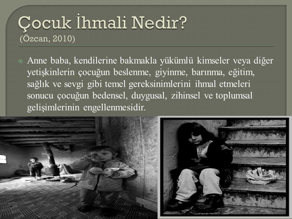 Çocuk İhmali Nedir (Özcan, 2010)