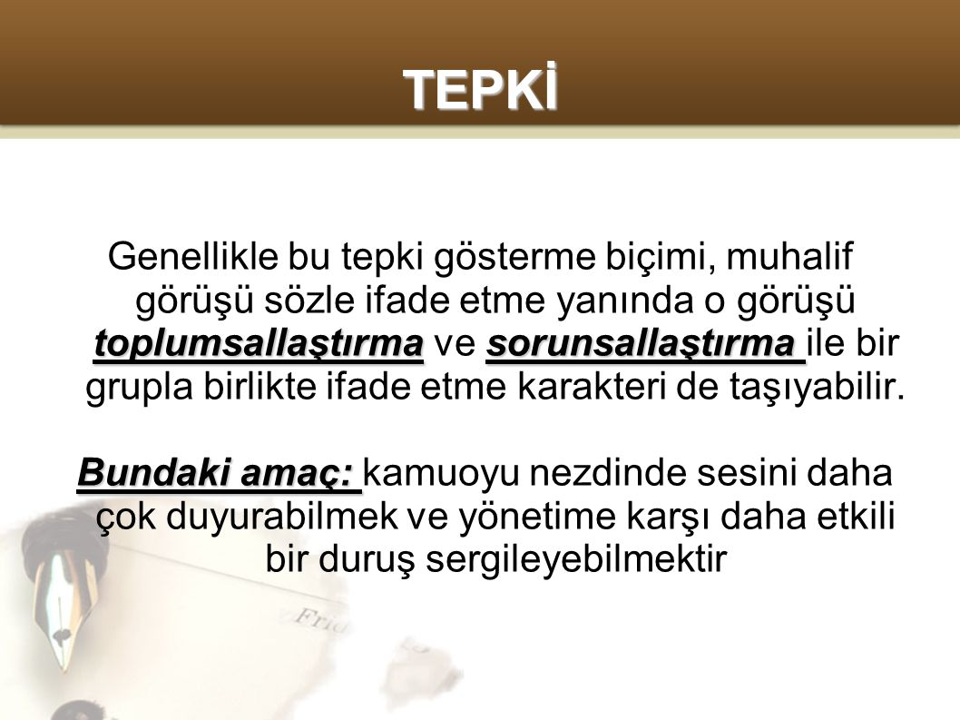 TEPKİ