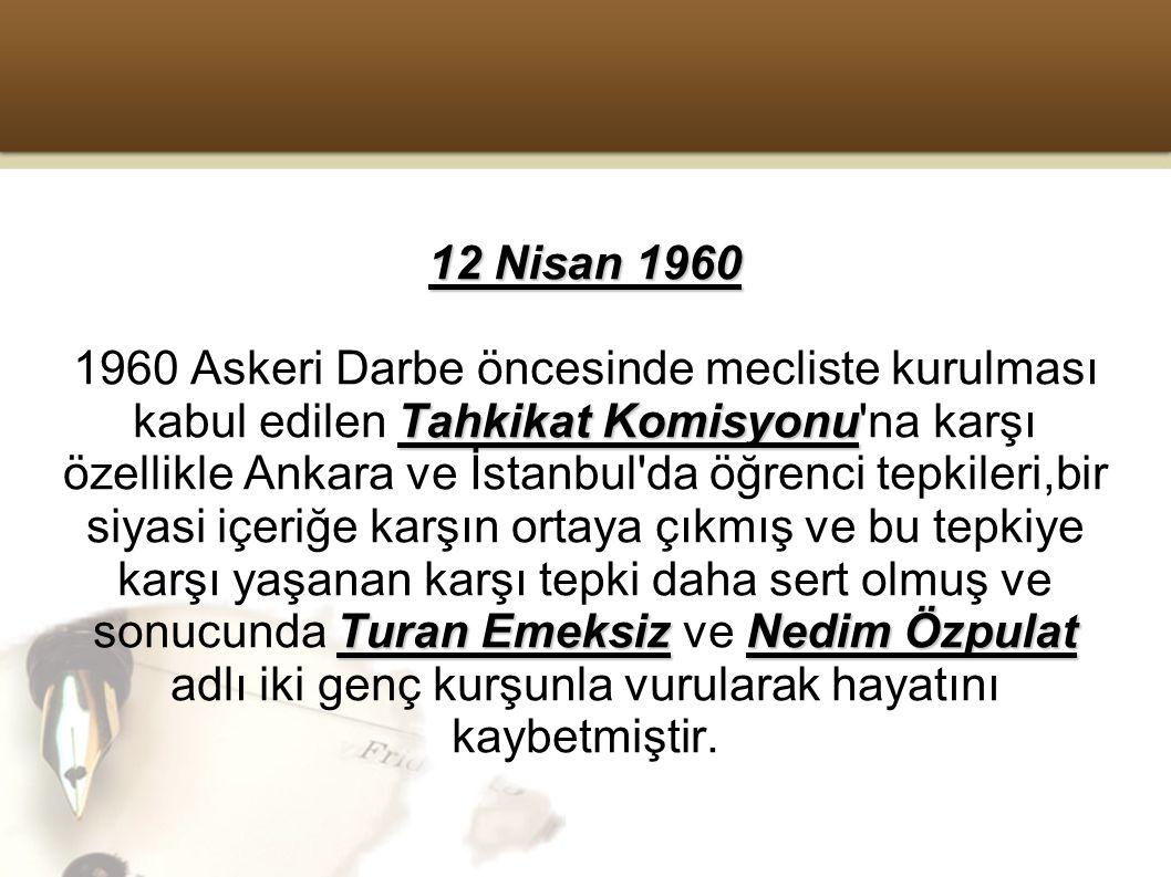 12 Nisan 1960