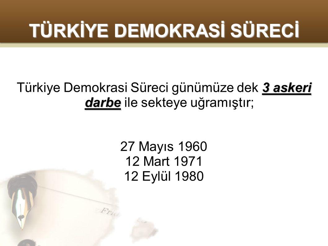 TÜRKİYE DEMOKRASİ SÜRECİ