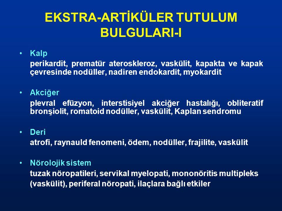 EKSTRA-ARTİKÜLER TUTULUM BULGULARI-I