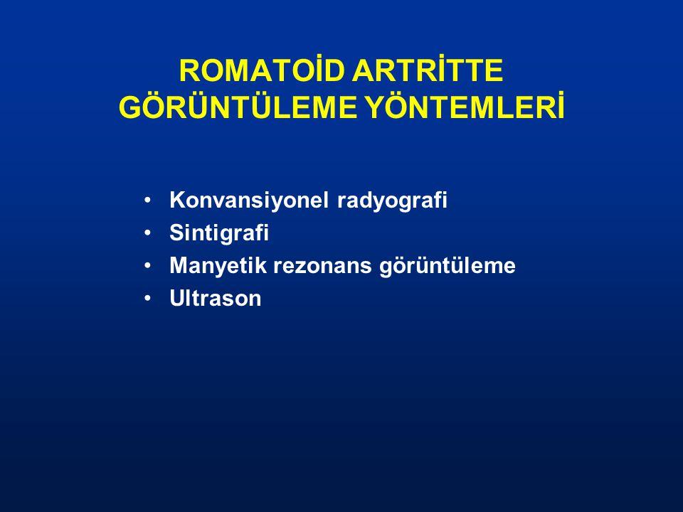ROMATOİD ARTRİTTE GÖRÜNTÜLEME YÖNTEMLERİ