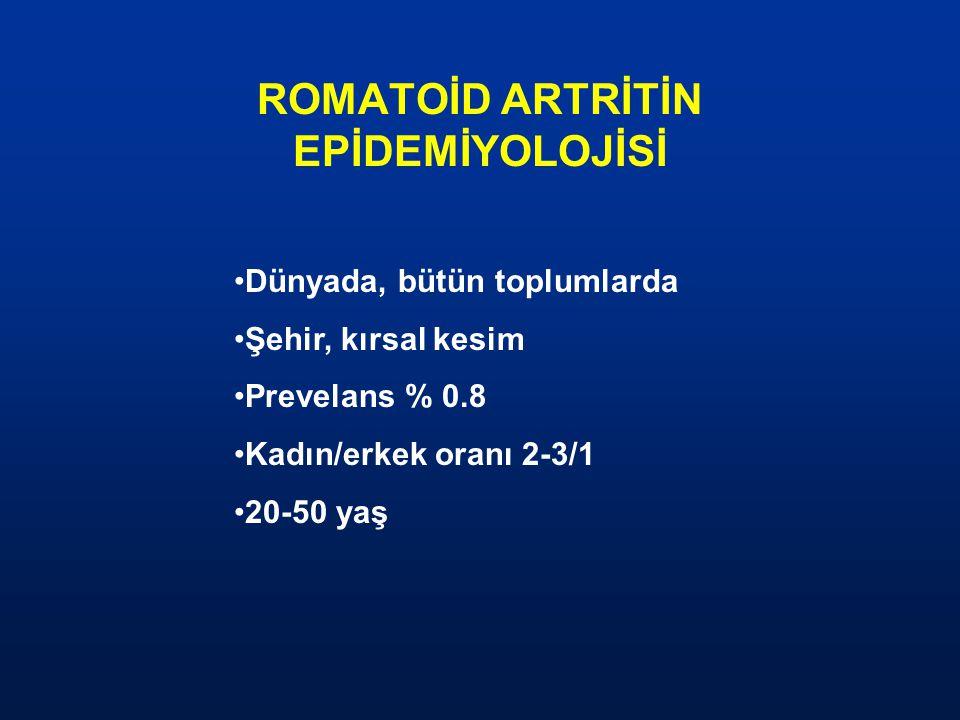 ROMATOİD ARTRİTİN EPİDEMİYOLOJİSİ