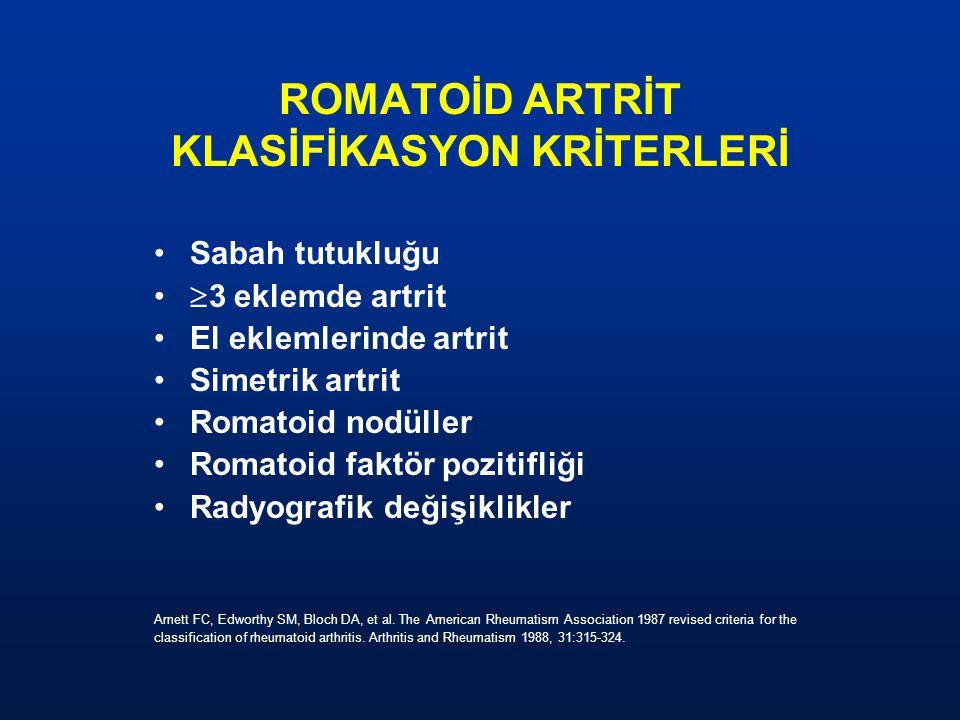 ROMATOİD ARTRİT KLASİFİKASYON KRİTERLERİ