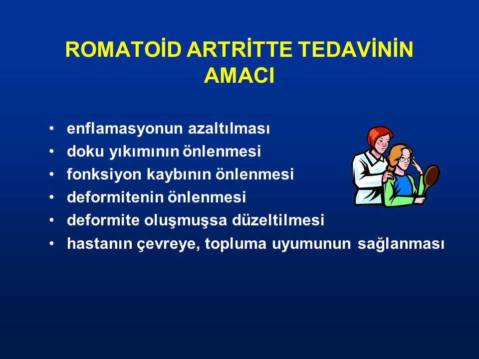 ROMATOİD ARTRİTTE TEDAVİNİN AMACI