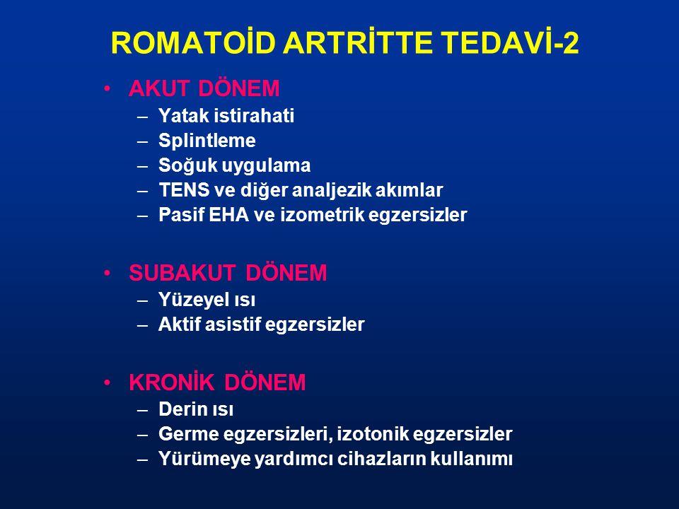 ROMATOİD ARTRİTTE TEDAVİ-2