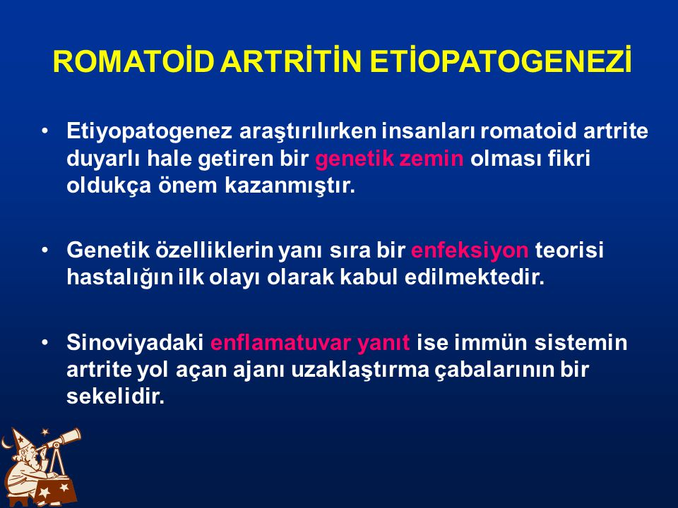 ROMATOİD ARTRİTİN ETİOPATOGENEZİ