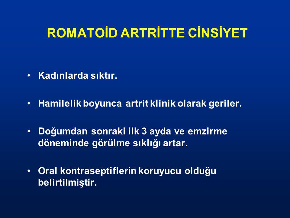 ROMATOİD ARTRİTTE CİNSİYET
