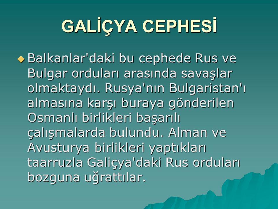 GALİÇYA CEPHESİ