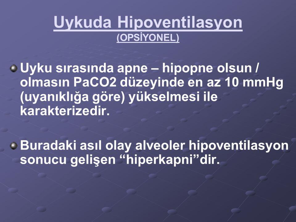 Uykuda Hipoventilasyon (OPSİYONEL)