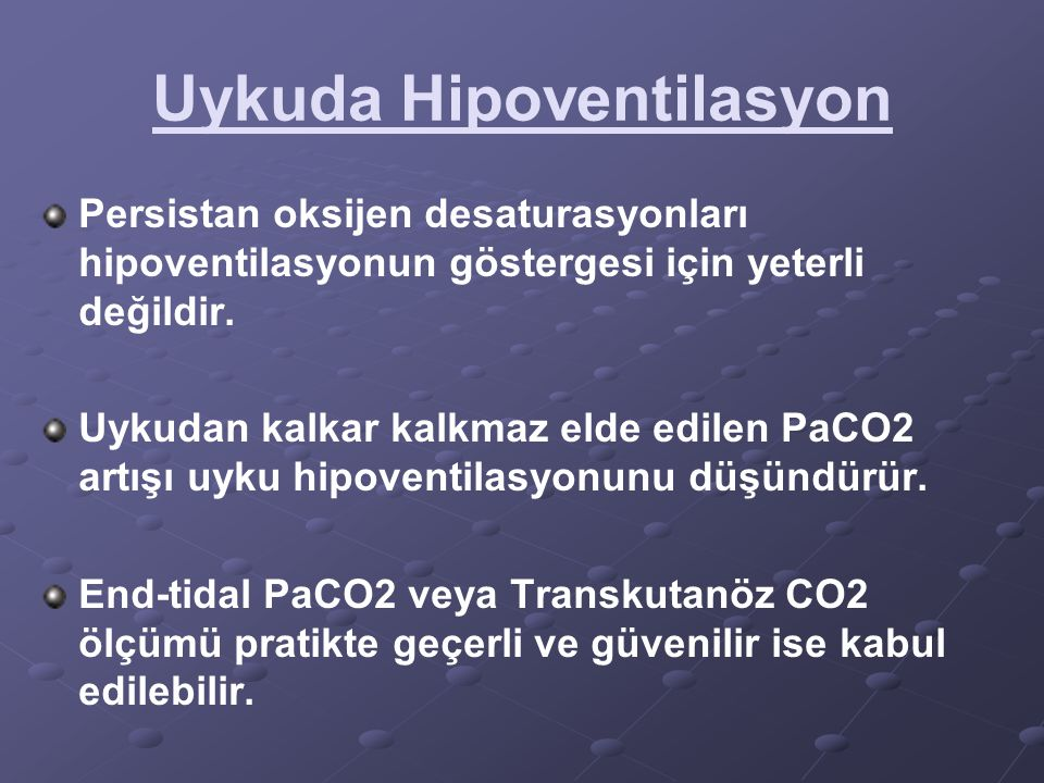 Uykuda Hipoventilasyon
