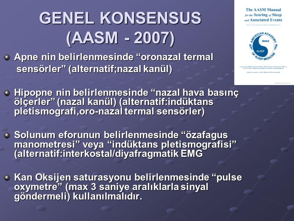 GENEL KONSENSUS (AASM - 2007)