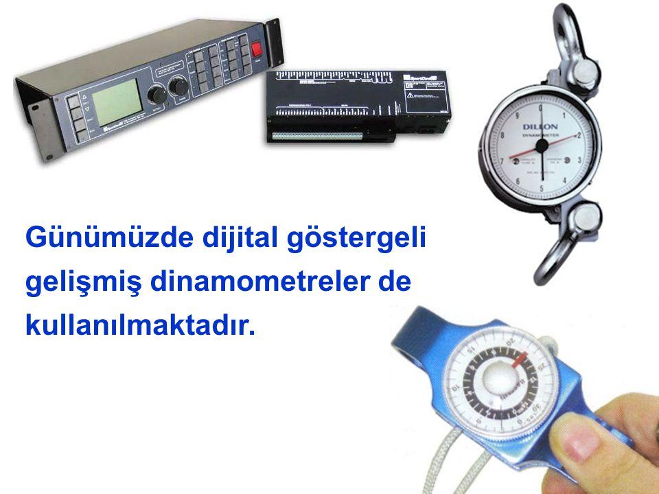 Günümüzde dijital göstergeli gelişmiş dinamometreler de kullanılmaktadır.