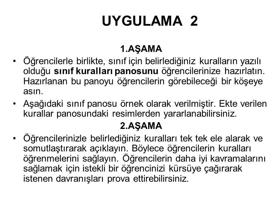 UYGULAMA 2 1.AŞAMA.