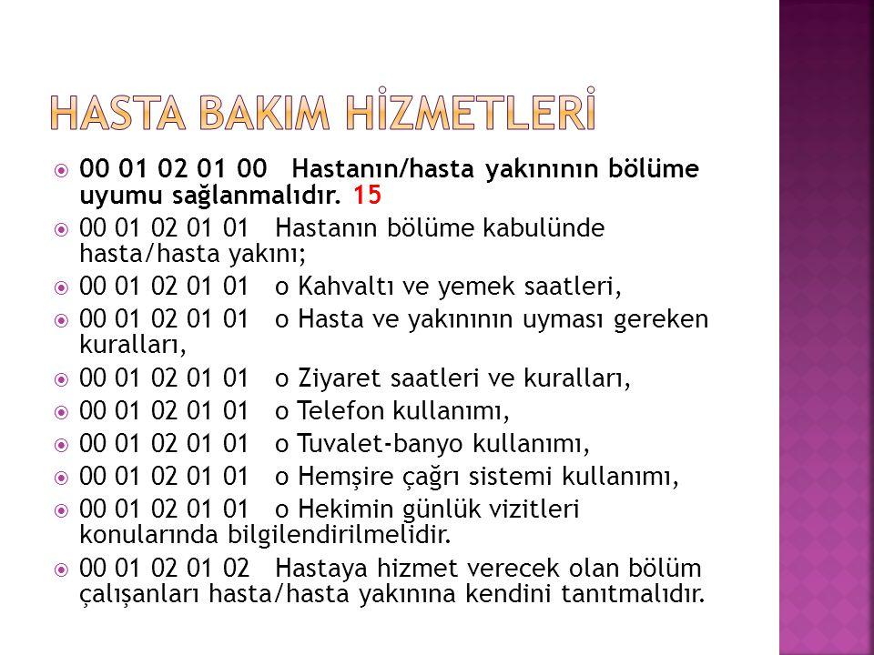 HASTA BAKIM HİZMETLERİ