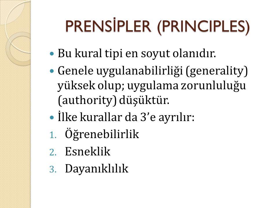 PRENSİPLER (PRINCIPLES)