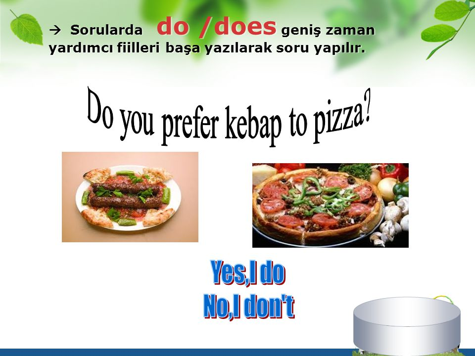 Do you prefer kebap to pizza