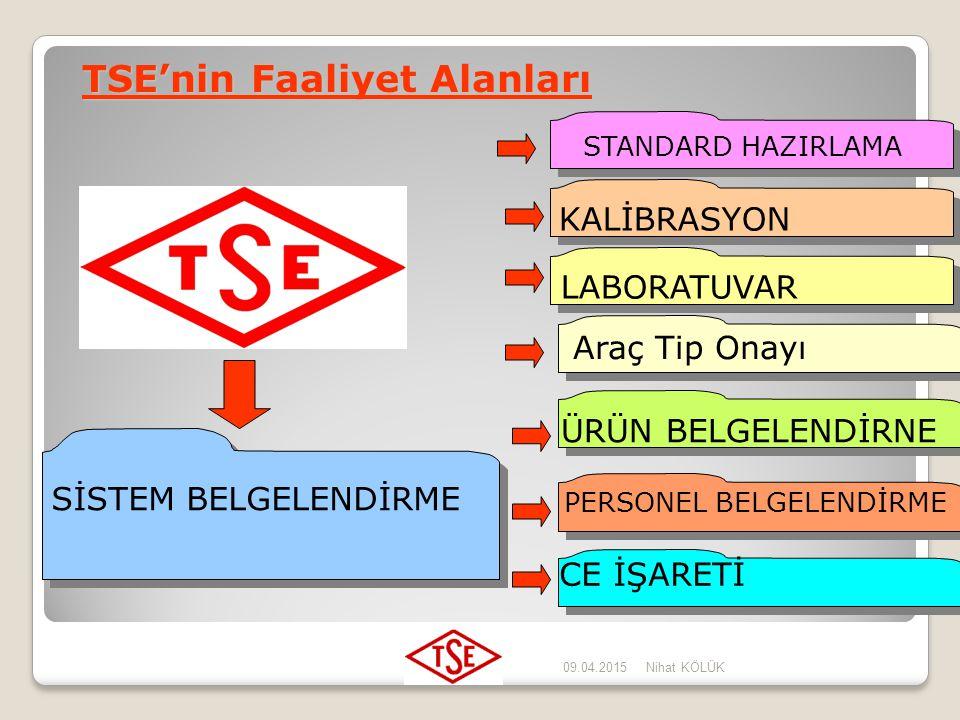 TSE'nin Faaliyet Alanları